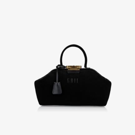GRIE bags. Designer doctor bags. Noble Suede Black