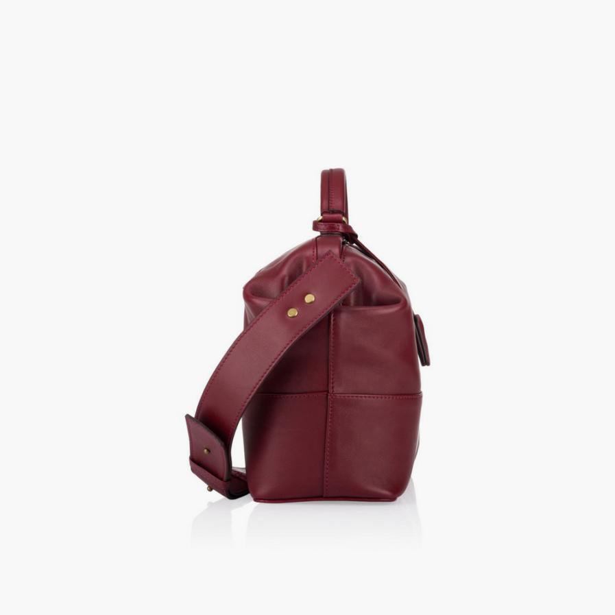 GRIE bags. Designer doctor bags. Midi Burgundi
