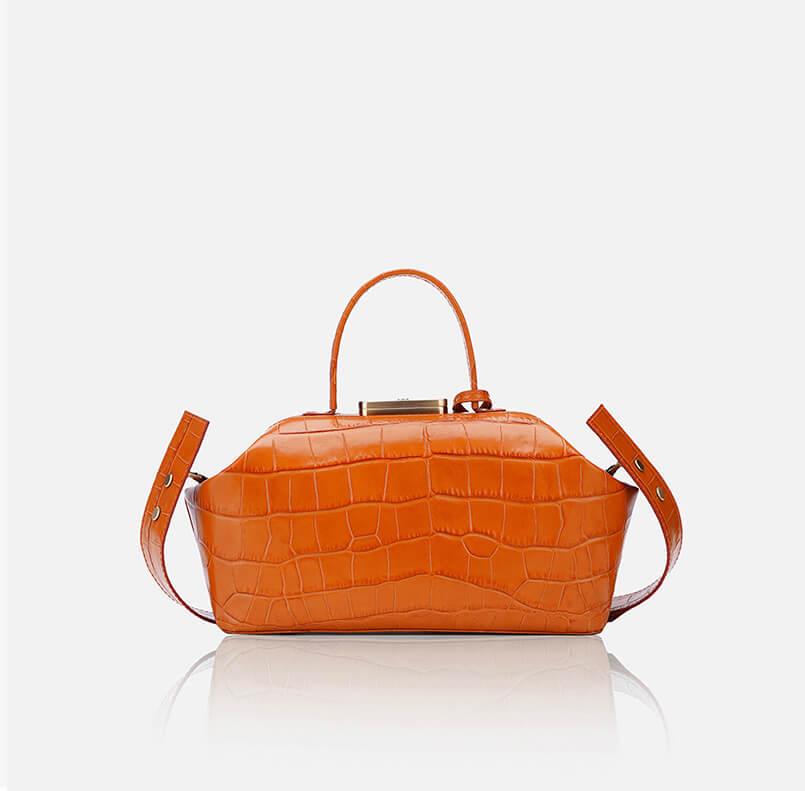 GRIE bags. Designer doctor bags. Noble Orange Crocco