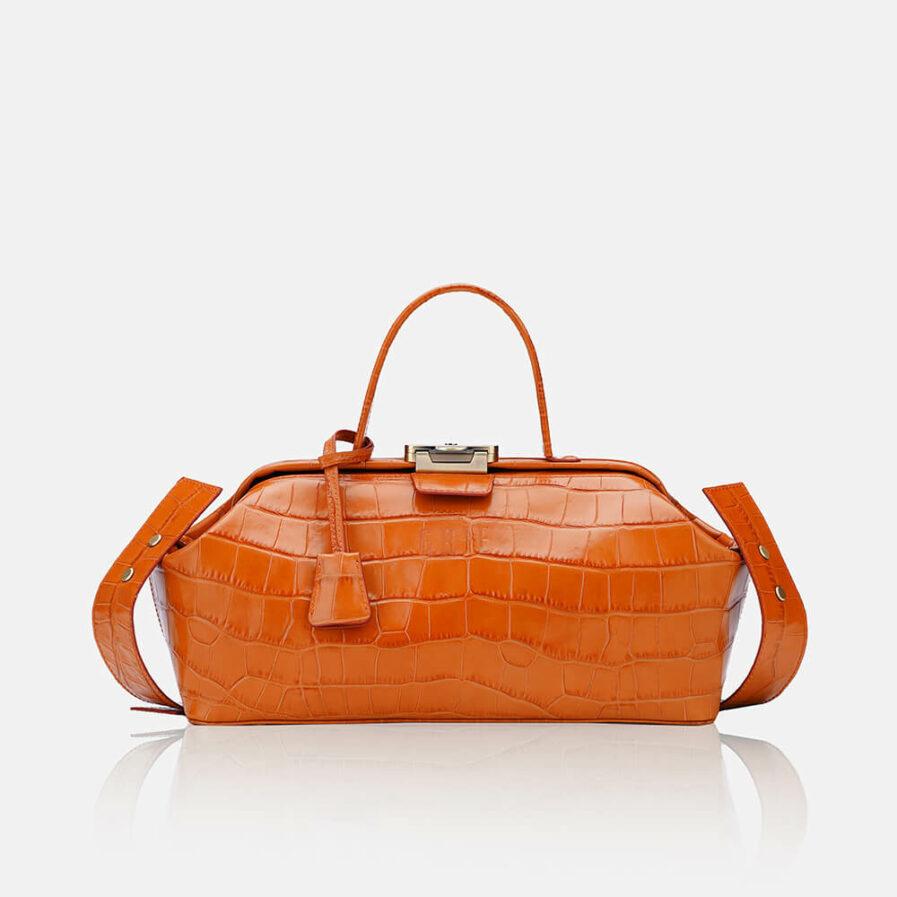 GRIE bags. Designer doctor bags. Baguette Orange Crocco
